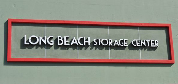Long beach storage center sign